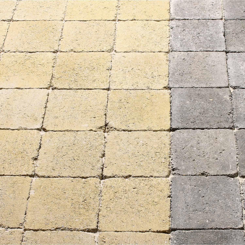 Pav tarnis en b ton jaune ton pierre p - Beton decoratif leroy merlin ...