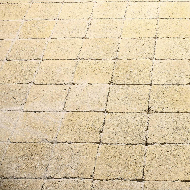 Pav tarnis en b ton jaune l 12 x l 12 cm p 40 mm leroy merlin - Pave leroy merlin ...