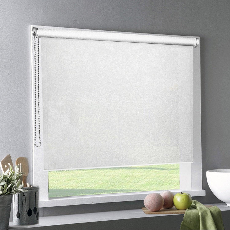 store enrouleur tamisant tlu gris clair 60x220 cm leroy merlin. Black Bedroom Furniture Sets. Home Design Ideas