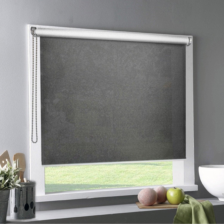 store enrouleur tamisant polyester tlu gris fonce 60 60 x. Black Bedroom Furniture Sets. Home Design Ideas