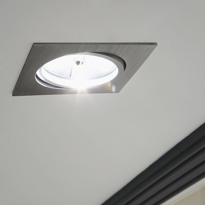 kit 1 spot orientables a encastrer koura 50w aluminium inspire. Black Bedroom Furniture Sets. Home Design Ideas