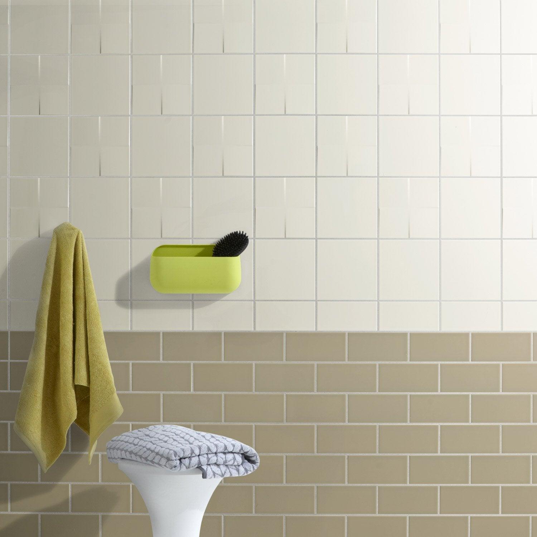 fa ence mur blanc ivoire astuce x cm leroy merlin. Black Bedroom Furniture Sets. Home Design Ideas