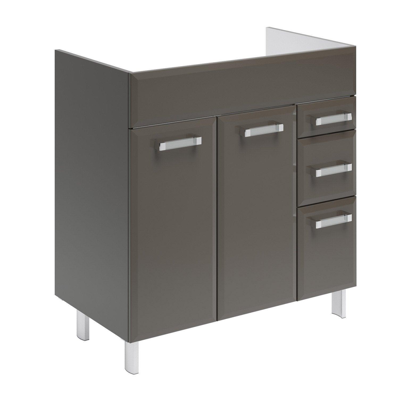 meuble sous vasque x x cm gris opale leroy merlin. Black Bedroom Furniture Sets. Home Design Ideas