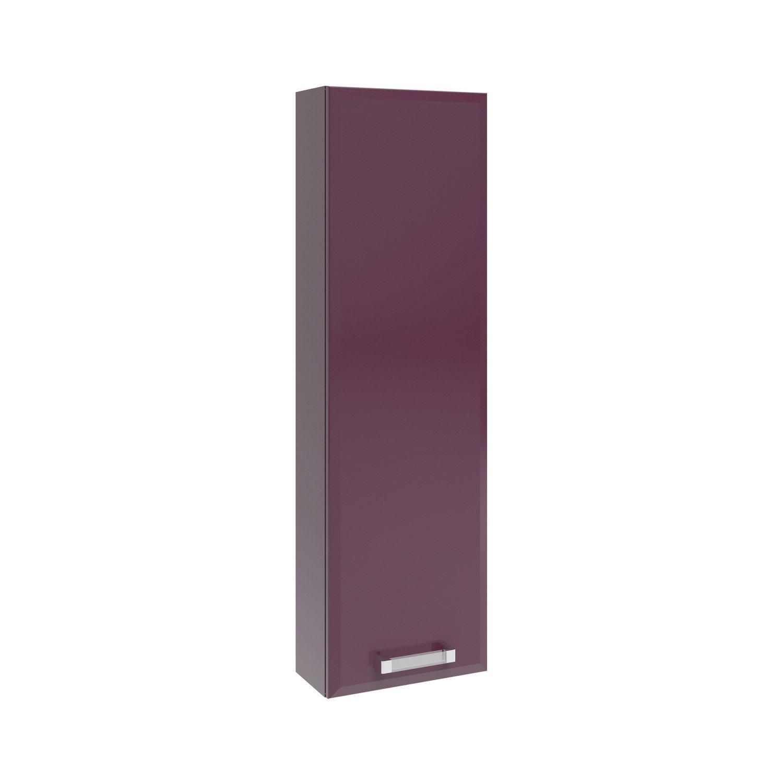 Meuble haut x x cm violet opale leroy - Meuble rangement profondeur 30 cm ...