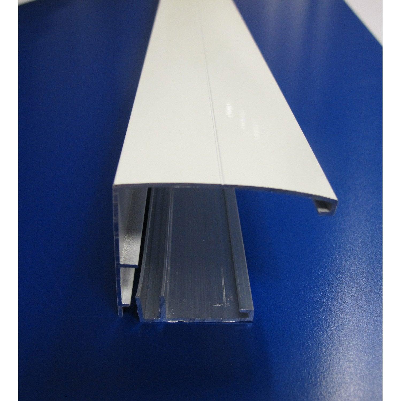 profil bordure pour plaque ep 16 32 mm blanc l 4 m. Black Bedroom Furniture Sets. Home Design Ideas