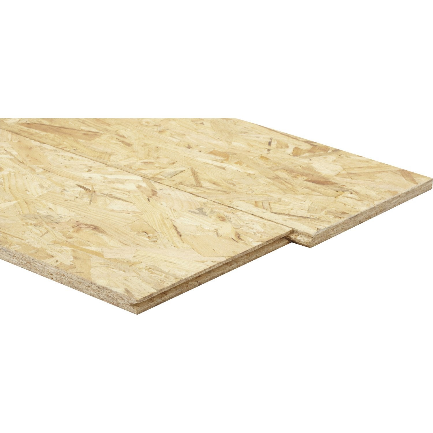 Dalle de plancher osb 3 3 plis pic a naturel mm x - Dalle clipsable leroy merlin ...