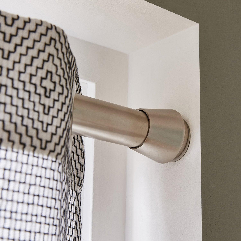 Kit de tringle rideau yuko diam 28 mm chrom bross 90 - Leroy merlin tringle a rideau ...