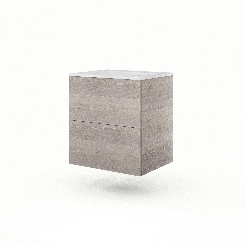 meuble vasque ch ne gris neo line leroy merlin. Black Bedroom Furniture Sets. Home Design Ideas