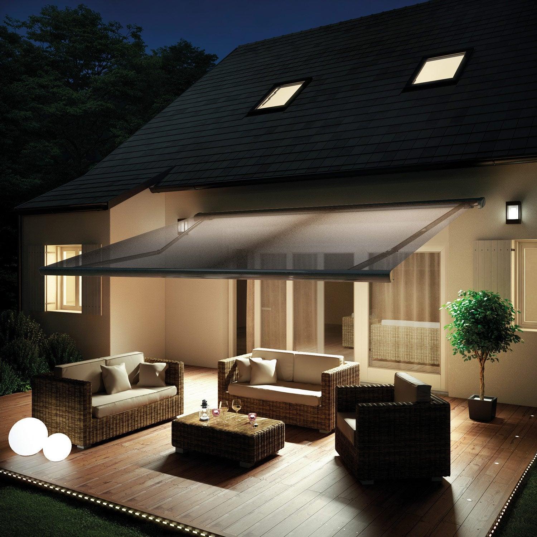 best store banne motoris gold xl coffre intgral x m p zinc gris with store de jardin leroy merlin. Black Bedroom Furniture Sets. Home Design Ideas
