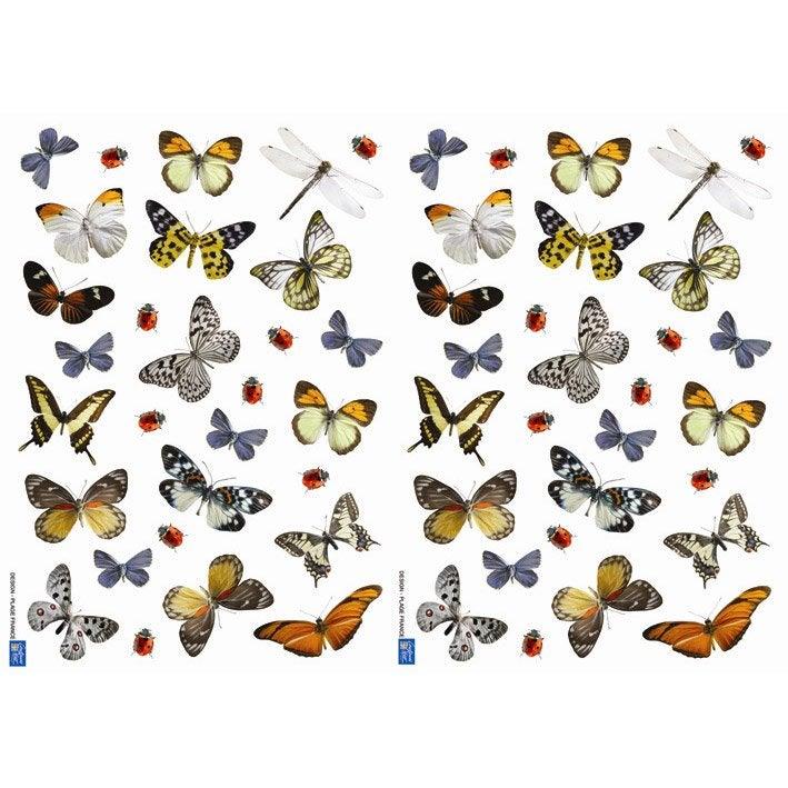 sticker papillons 21 cm x 29 7 cm leroy merlin. Black Bedroom Furniture Sets. Home Design Ideas