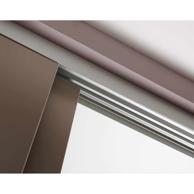 Rail coulissant et habillage aluminium anodis slide pour 2 cloisons de 93 cm - Passe paroi leroy merlin ...