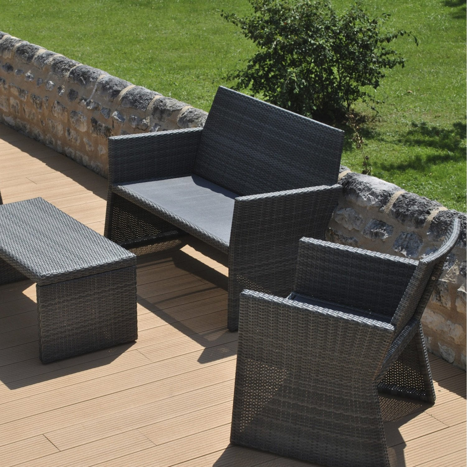 Salon de jardin ice proloisirs leroy merlin for Piscine foirfouille