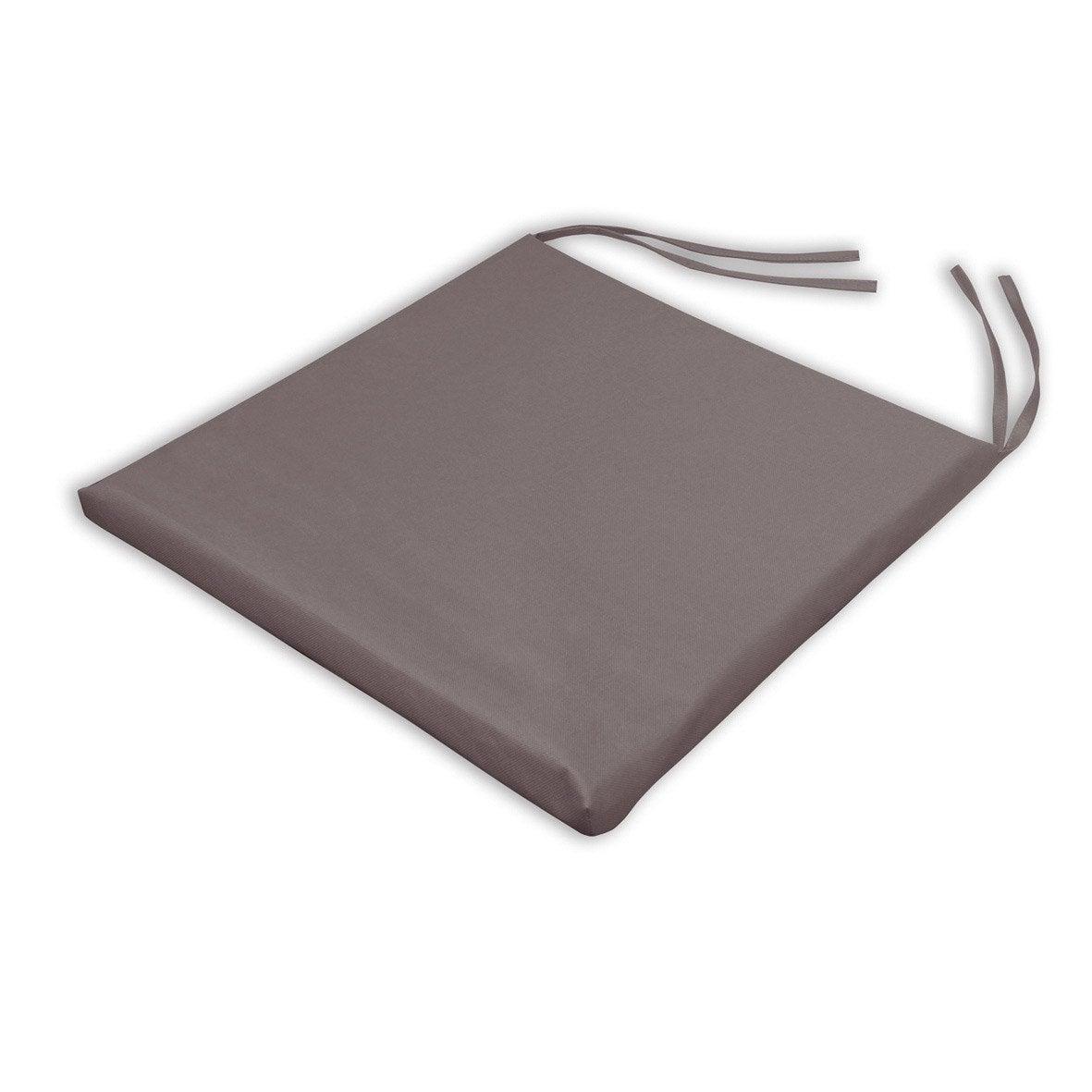 Galette de chaise imperm able basica chocolat x p - Galette chaise exterieur impermeable ...