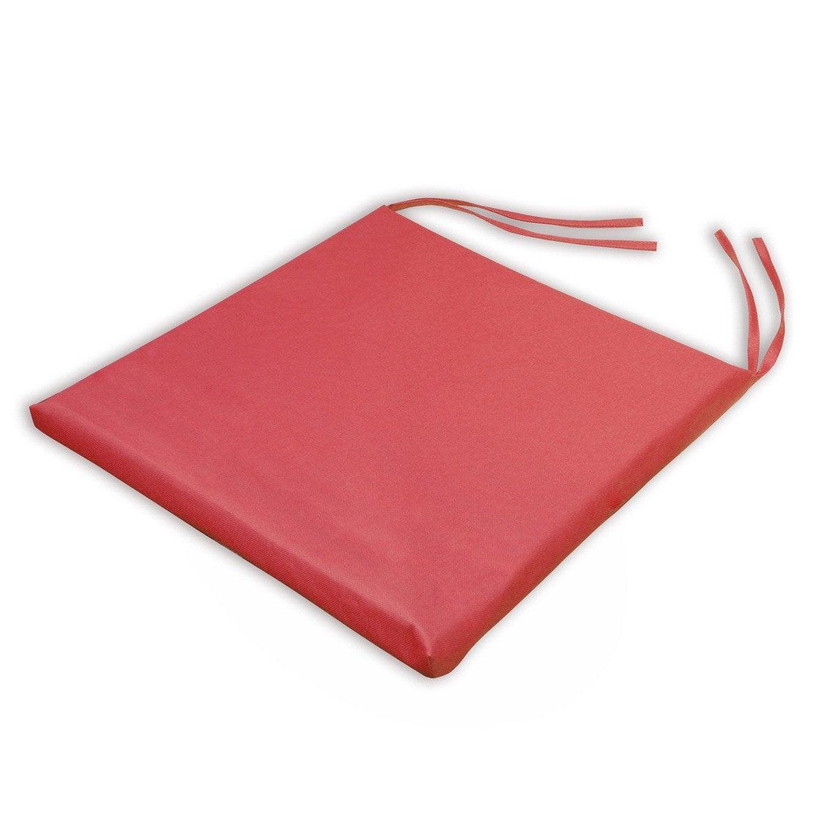 Galette de chaise imperm able basica rouge x h 2 5 - Galette chaise exterieur impermeable ...
