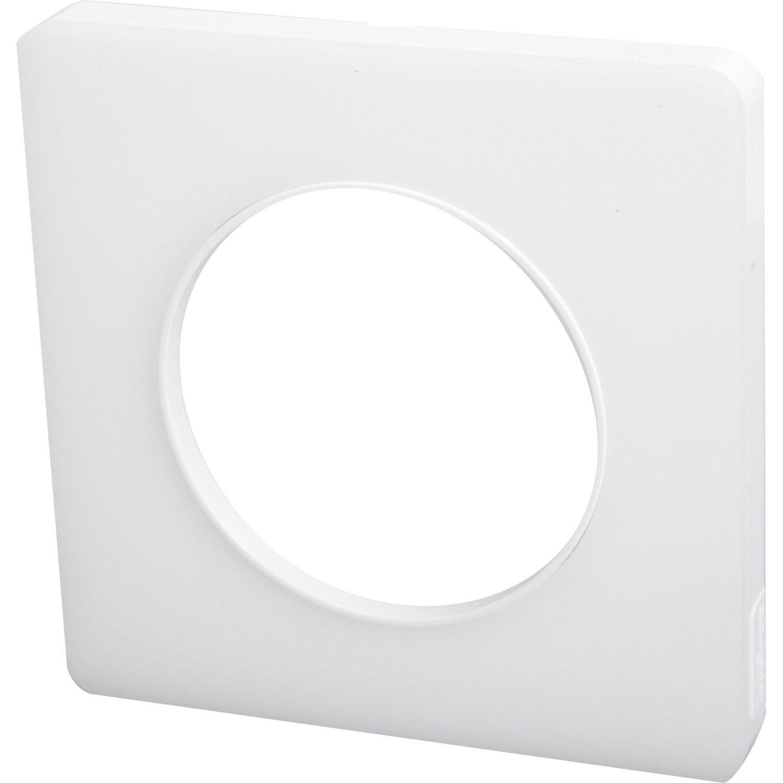 Plaque odace schneider electric blanc translucide mat for Plaque plexi leroy merlin