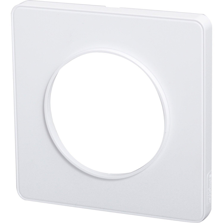 Plaque Schneider Odace : plaque simple odace schneider electric blanc leroy merlin ~ Dallasstarsshop.com Idées de Décoration