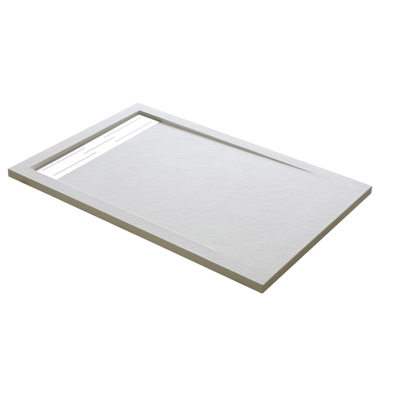 receveur de douche rectangulaire x cm r sine blanc urban leroy merlin. Black Bedroom Furniture Sets. Home Design Ideas