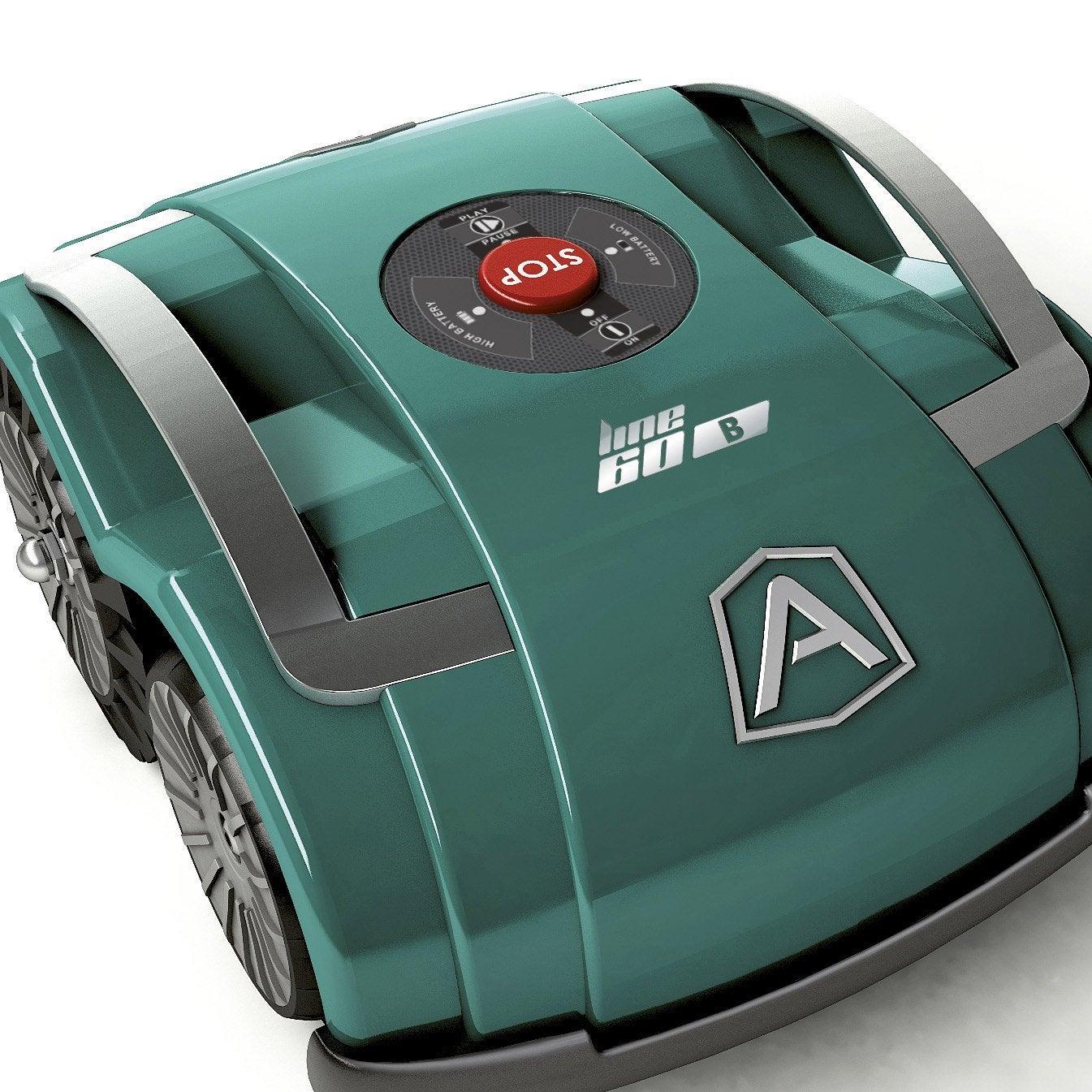 Tondeuse robot sur batterie ambrogio l60 b 400 m leroy for Robot piscine leroy merlin