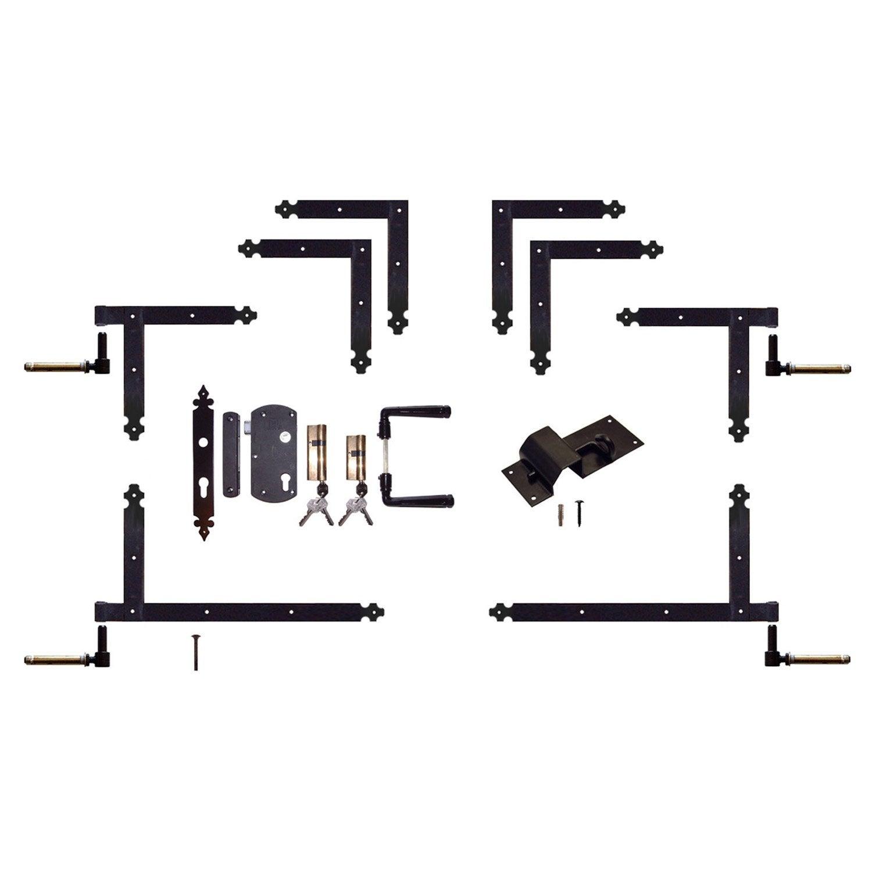 quincaillerie en acier pour portail bois classic leroy merlin. Black Bedroom Furniture Sets. Home Design Ideas