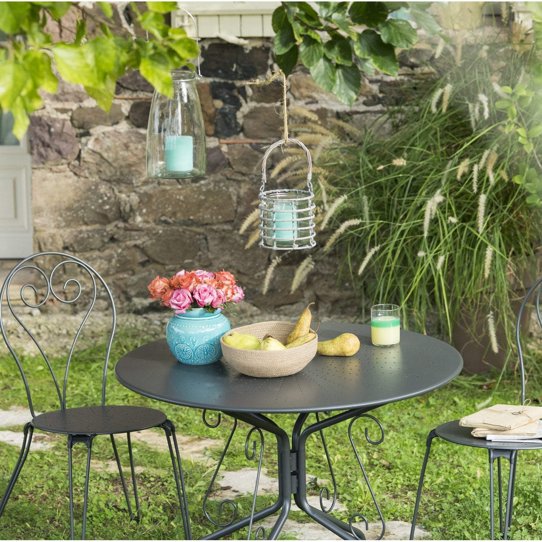 salon de jardin romantique gris anthracite leroy merlin. Black Bedroom Furniture Sets. Home Design Ideas