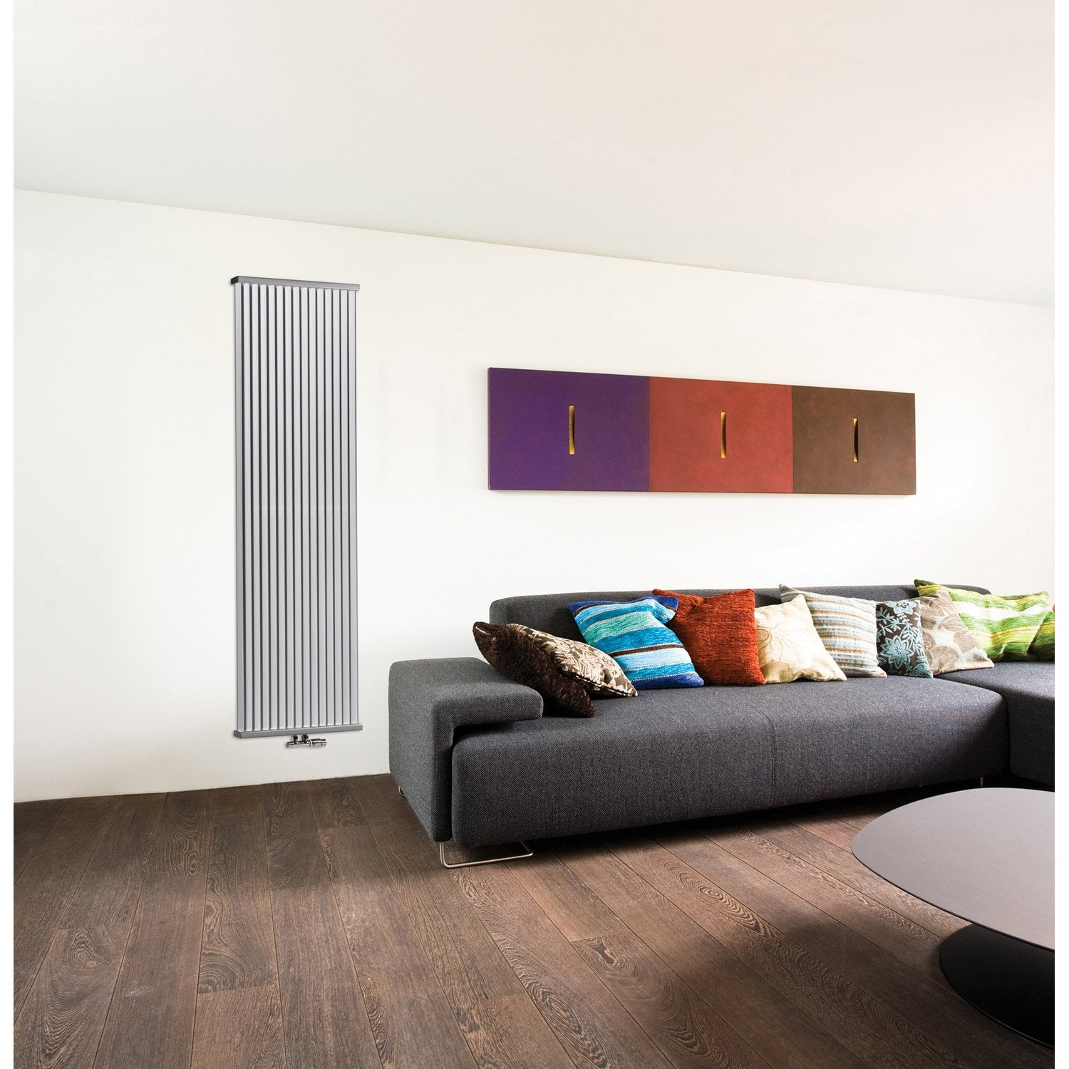 radiateur chauffage central deco space mural blanc. Black Bedroom Furniture Sets. Home Design Ideas