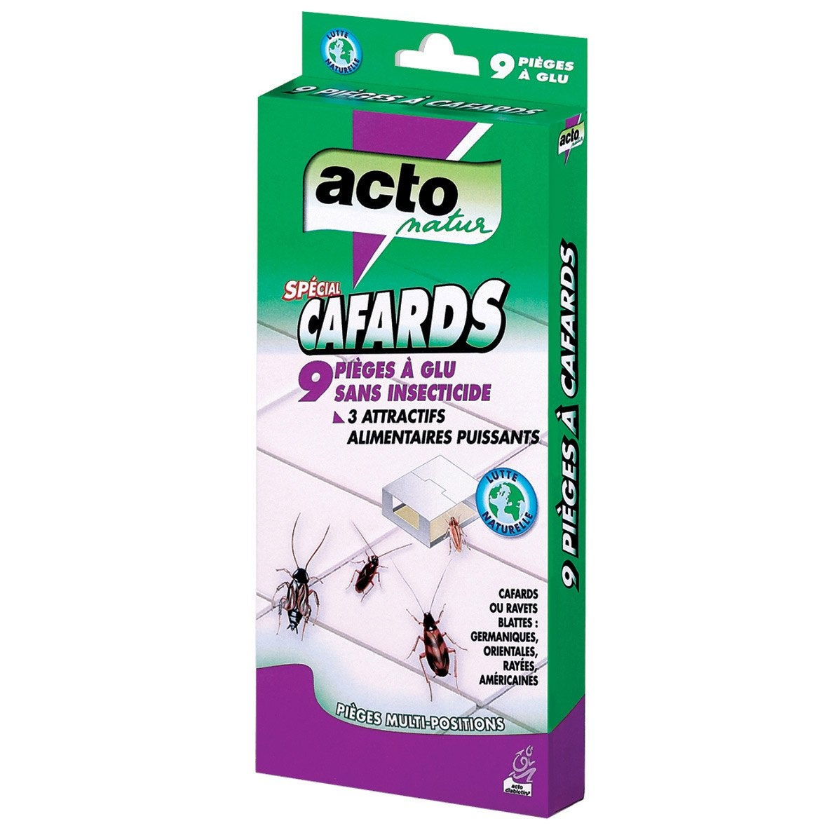 Lot de 9 pi ges anti cafards acto leroy merlin for Produit anti punaise de lit leroy merlin