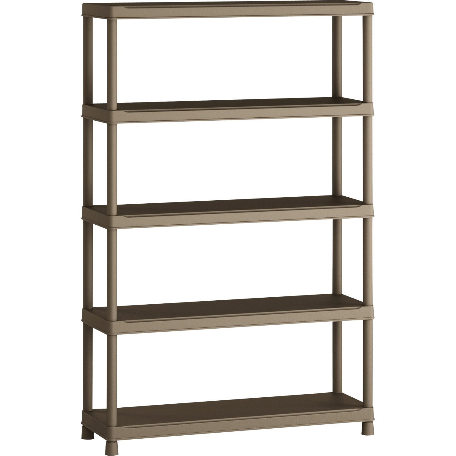 Etagere Bois Brico Depot : Etag?re en r?sine 5 tablettes SPACEO, H181xL120xP40 cm Leroy