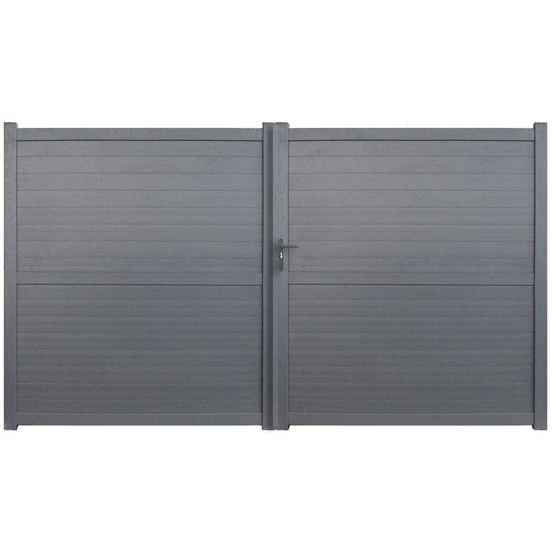 Portail battant en aluminium detroit x cm leroy merlin - Platte aluminium leroy merlin ...