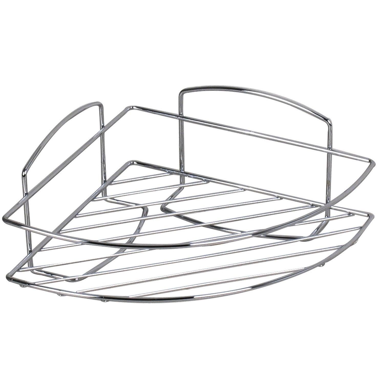 etag re de bain douche d 39 angle visser chrom leroy merlin. Black Bedroom Furniture Sets. Home Design Ideas
