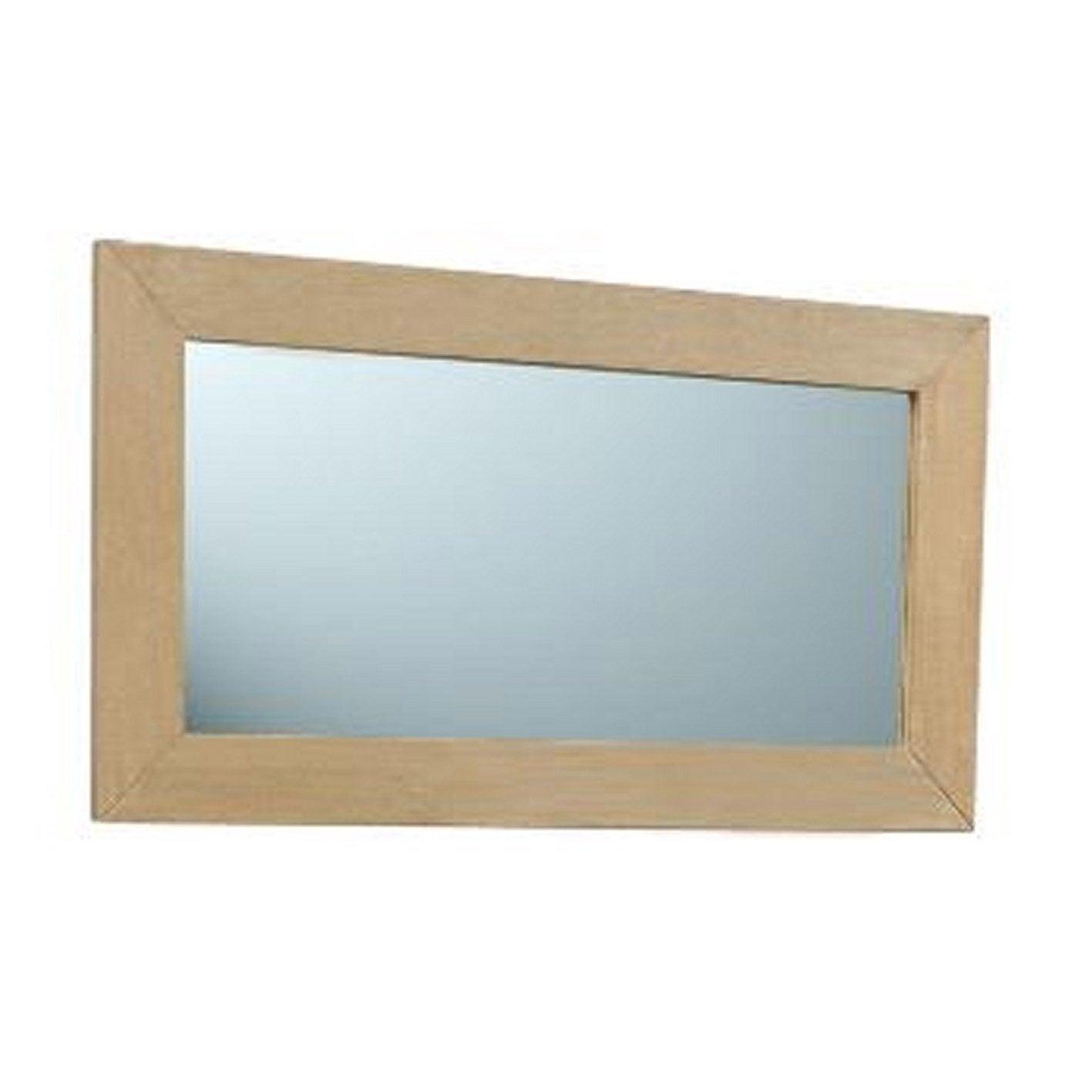 miroir en teck naturel surabaya l90xh50xp2 cm leroy merlin