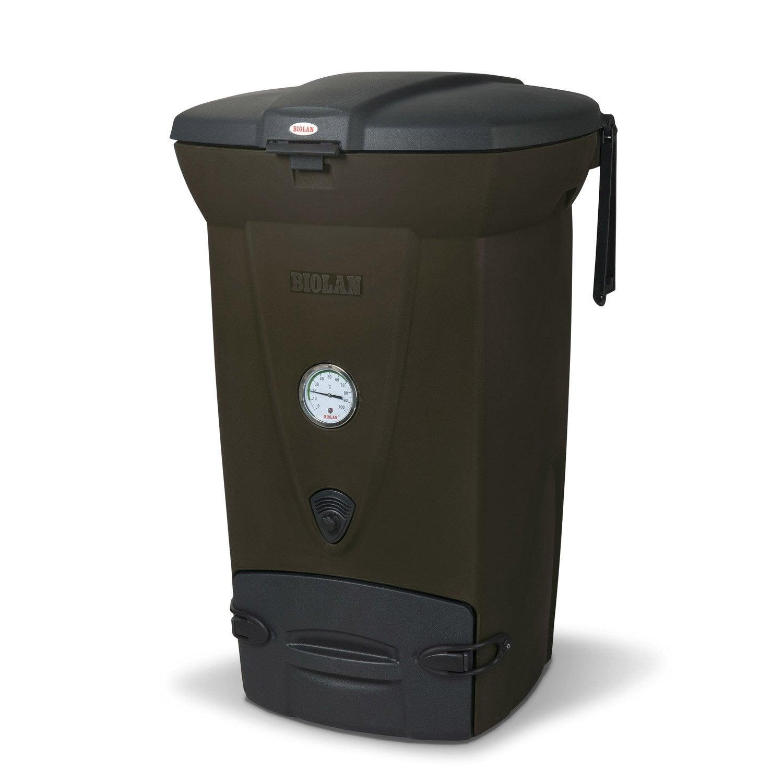 composteur monobloc biolan thermo marron 220 l leroy merlin. Black Bedroom Furniture Sets. Home Design Ideas