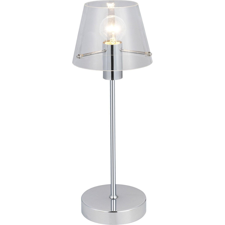 lampe alhambra brilliant verre transparent 40 w leroy. Black Bedroom Furniture Sets. Home Design Ideas