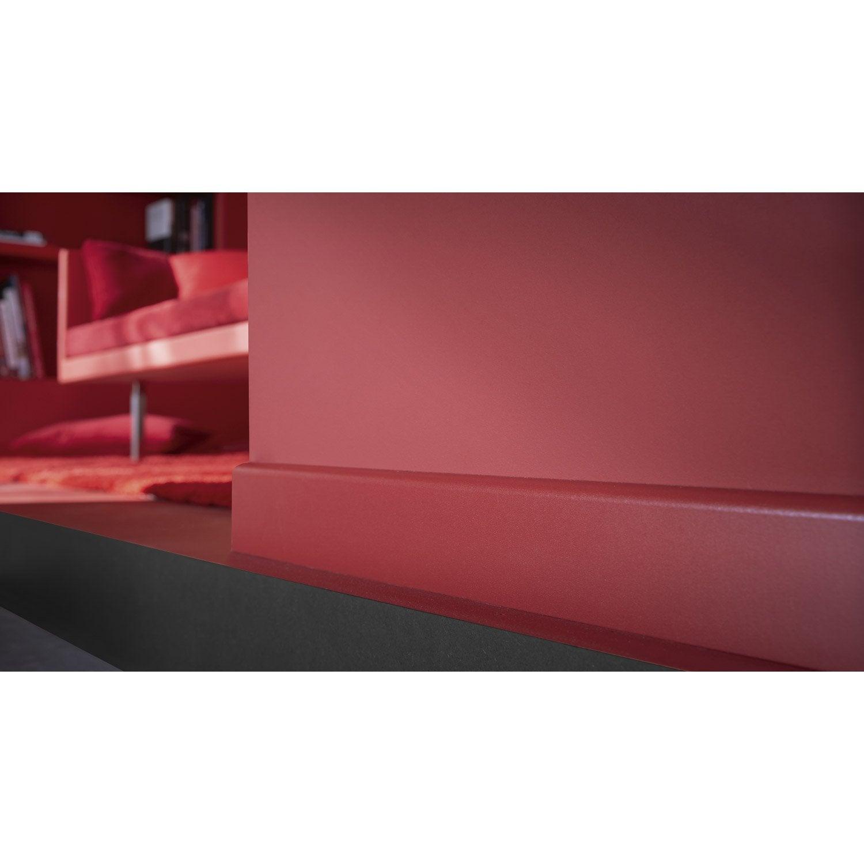 Plinthe médium (mdf) arrondie revêtu mélaminé rouge rouge 3, 10x70 ...