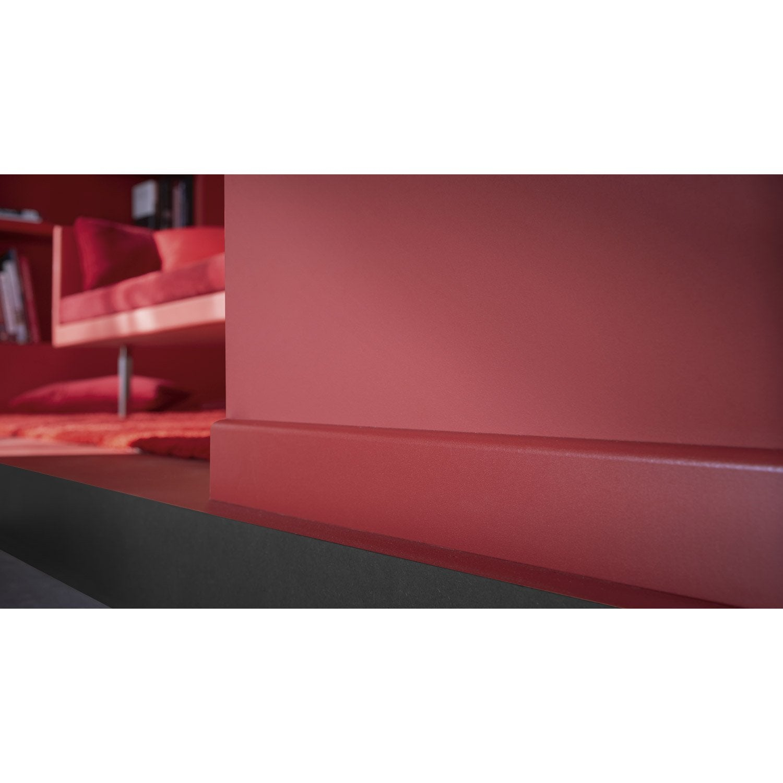 moquette rouge salon plinthe mdium mdf arrondie revtu mlamin rouge rouge 3