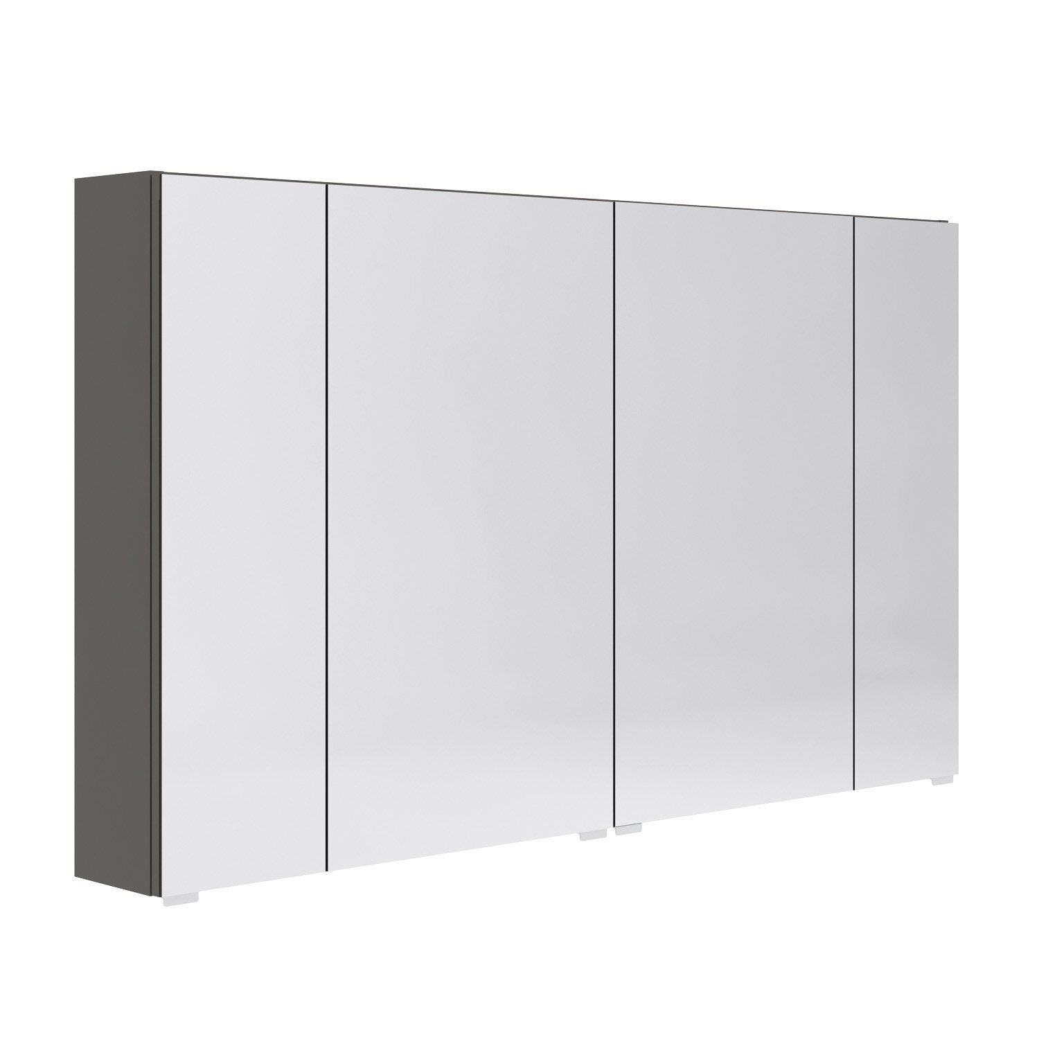 Armoire de toilette opale l120 x h70 x p15 4 cm leroy merlin for Meuble de toilette leroy merlin