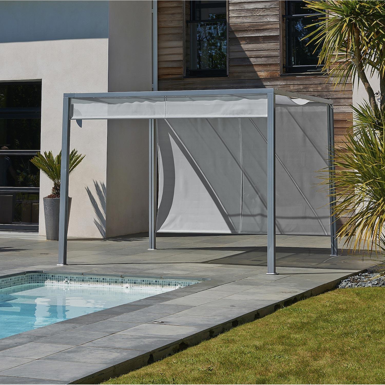 pergola autoportante venezia acier et aluminium gris 9 m leroy merlin. Black Bedroom Furniture Sets. Home Design Ideas