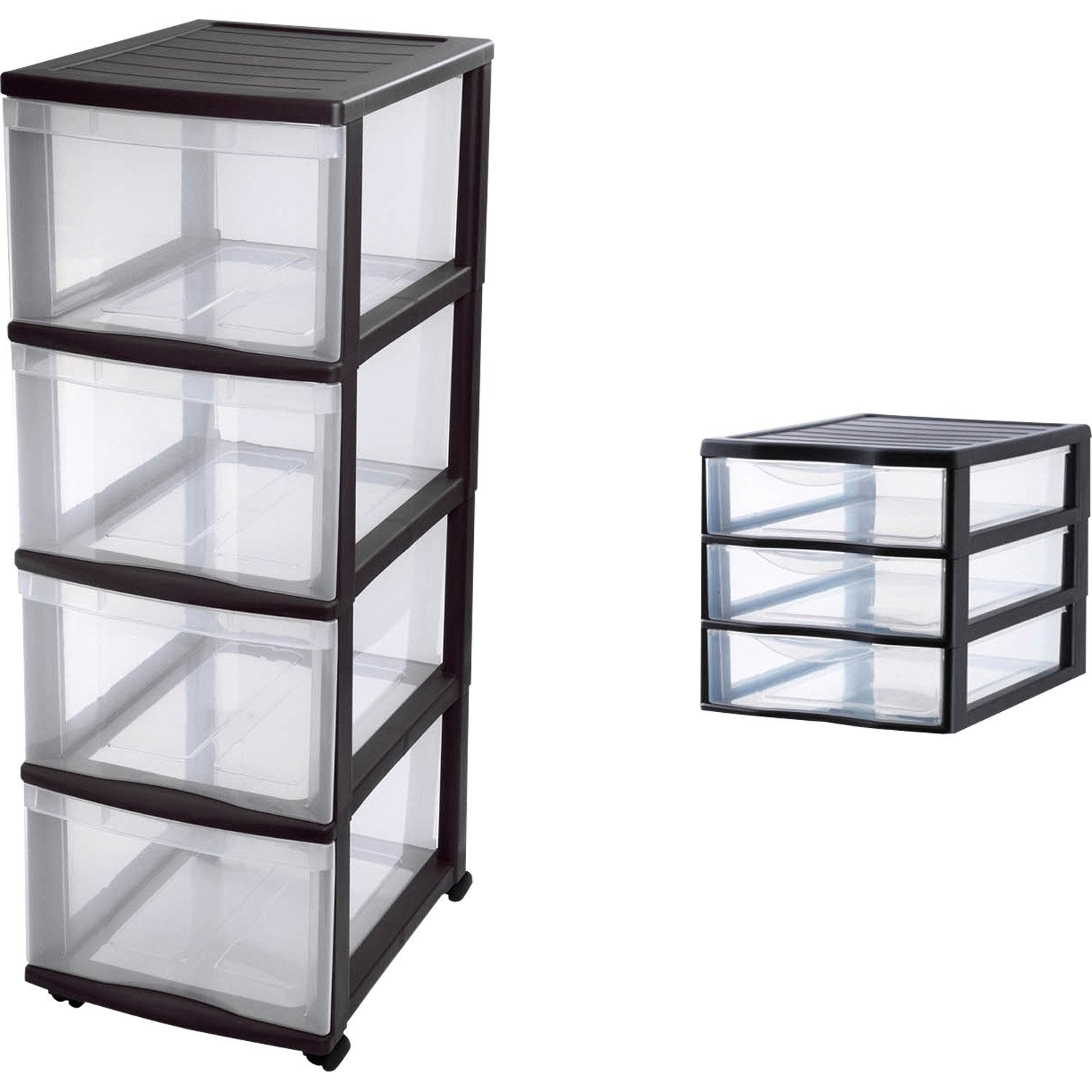 tour de rangement optimo plastique x x cm leroy merlin. Black Bedroom Furniture Sets. Home Design Ideas