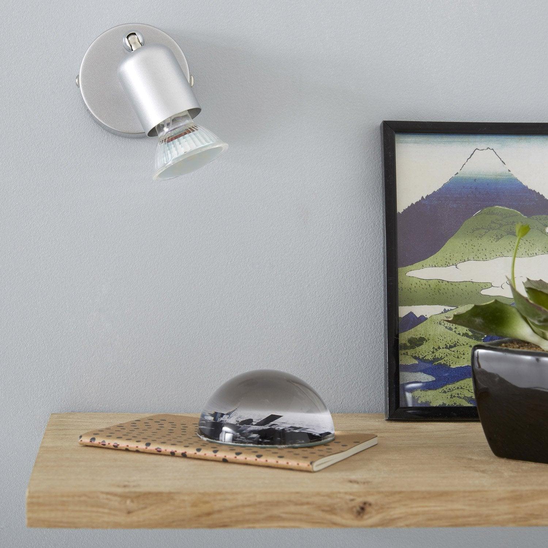 spot pat re design gu10 m tal 1 leroy merlin. Black Bedroom Furniture Sets. Home Design Ideas