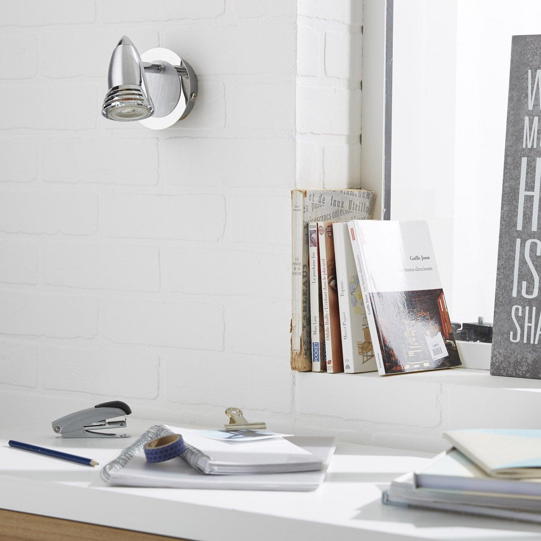 spot pat re sans ampoule 1 x gu10 acier worm inspire. Black Bedroom Furniture Sets. Home Design Ideas