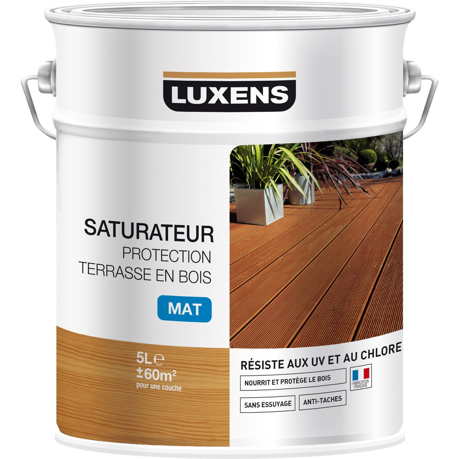 Saturateur LUXENS Protection terrasse bois 5 l, naturel Leroy Merlin # Saturateur Bois Leroy Merlin