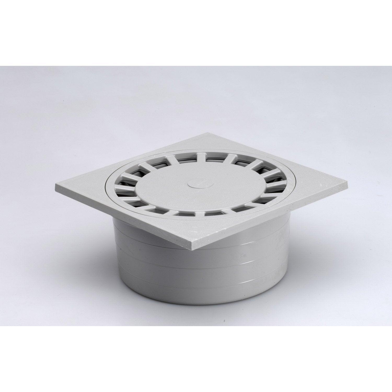Siphon de cour en pvc girpi gris x h 8 cm leroy merlin for Siphon de cour 30x30