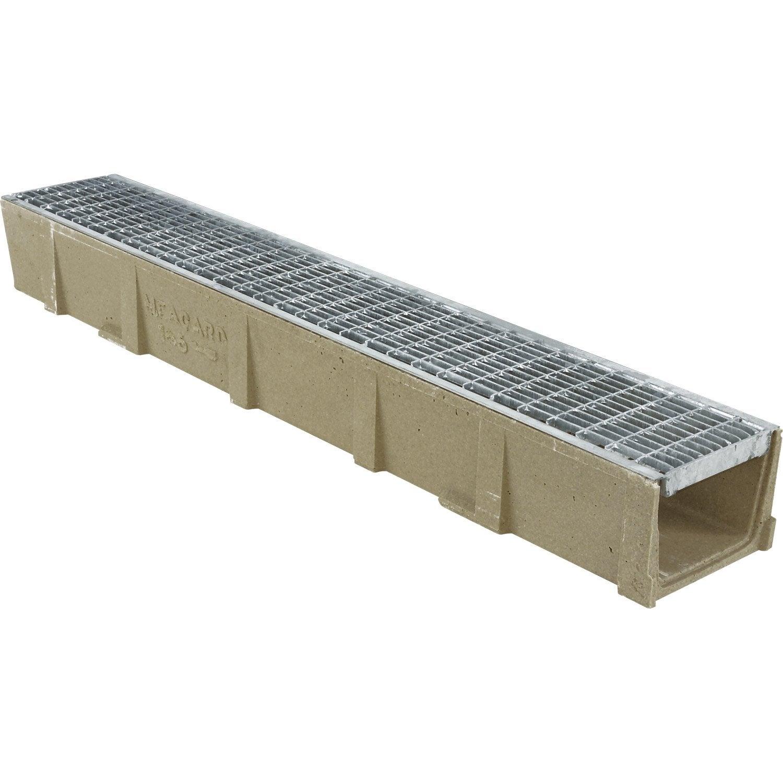 Caniveau en r sine de polyester grille caillebotis long 1 m leroy merlin - Campus leroy merlin ...