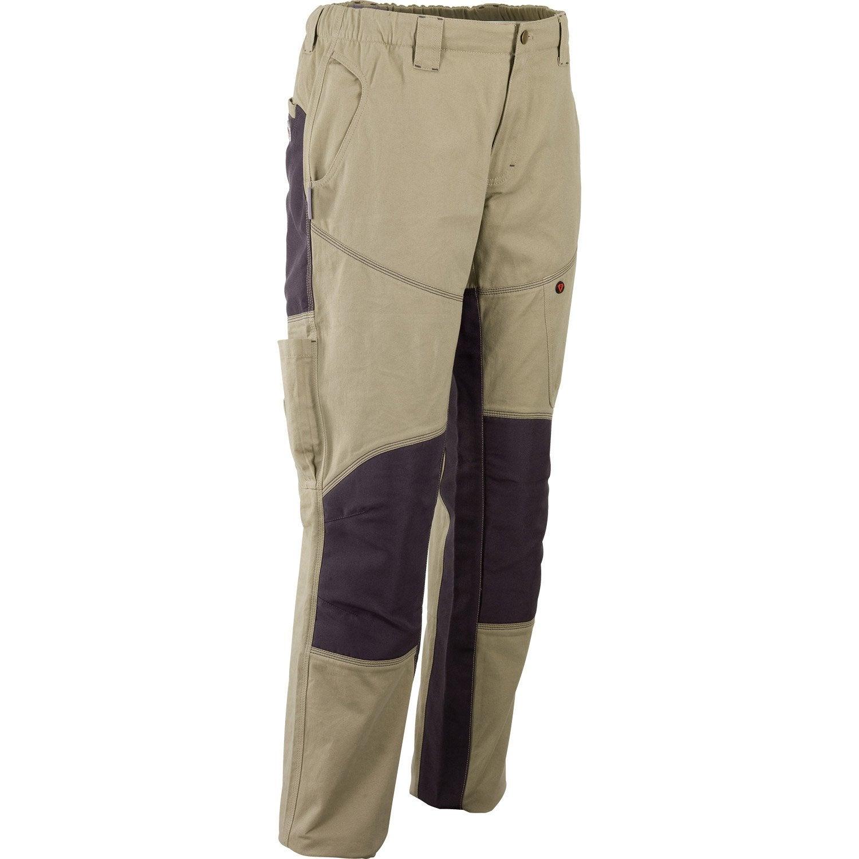 pantalon de travail redstone beige gris taille l leroy merlin. Black Bedroom Furniture Sets. Home Design Ideas
