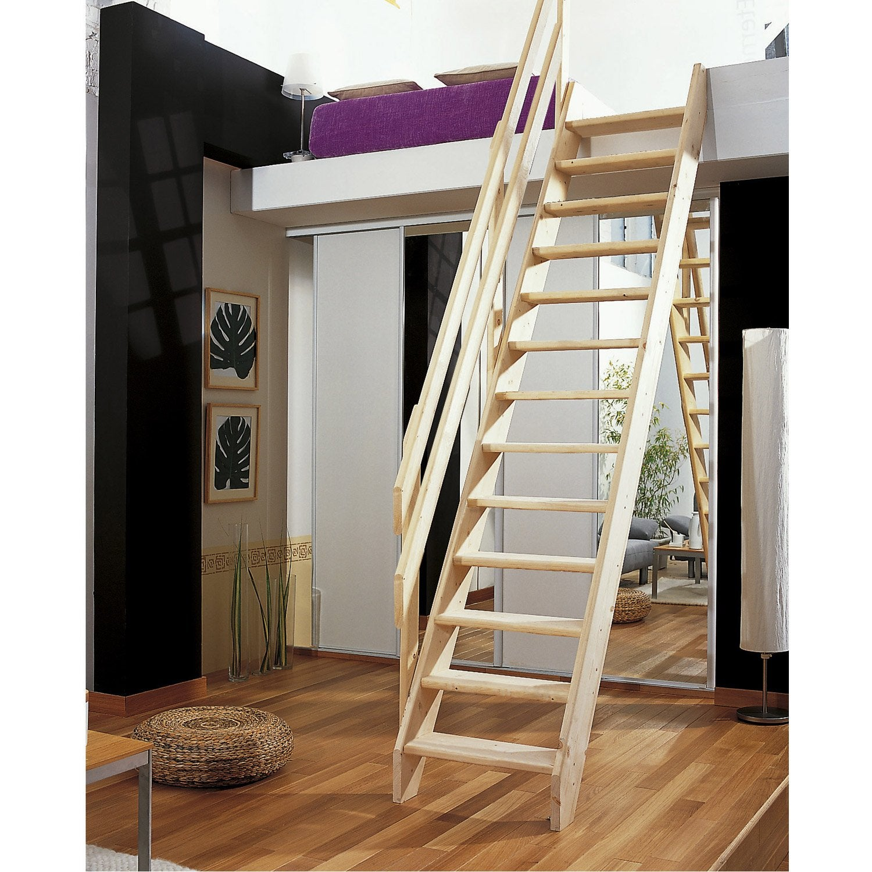 Rampe pour escalier de meunier modulos leroy merlin - Rampe escalier exterieur leroy merlin ...