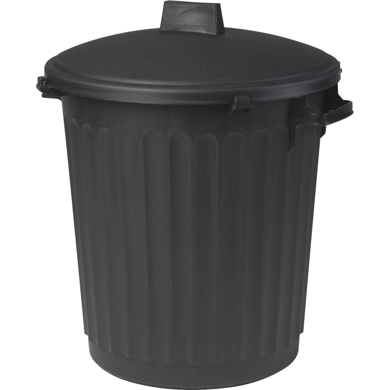 poubelle de rue 80 l x x cm leroy merlin