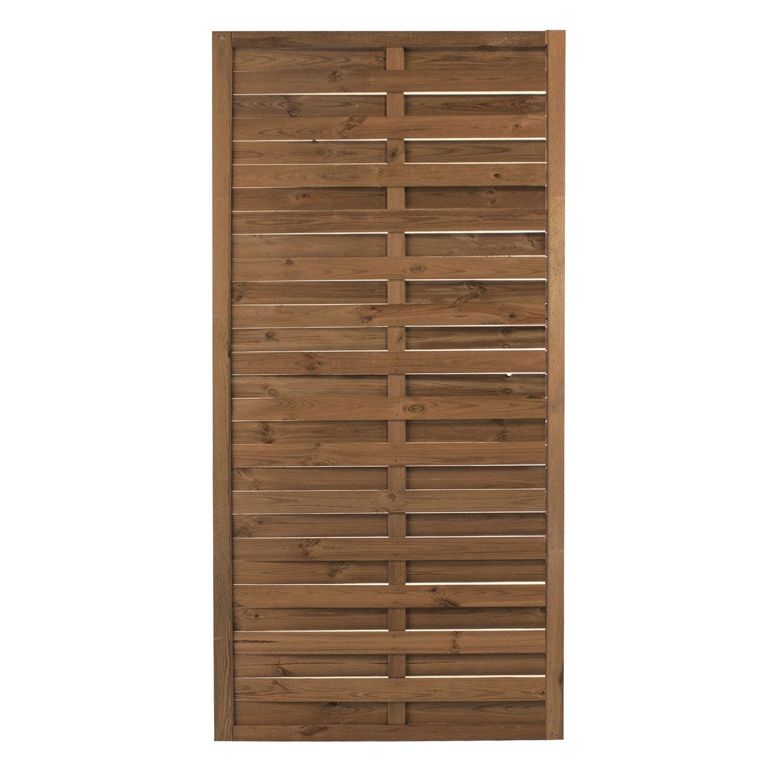 Panneau bois plein Leo, l 90 x H 180 cm, marron Leroy Merlin # Panneau Copeaux Bois Compressé