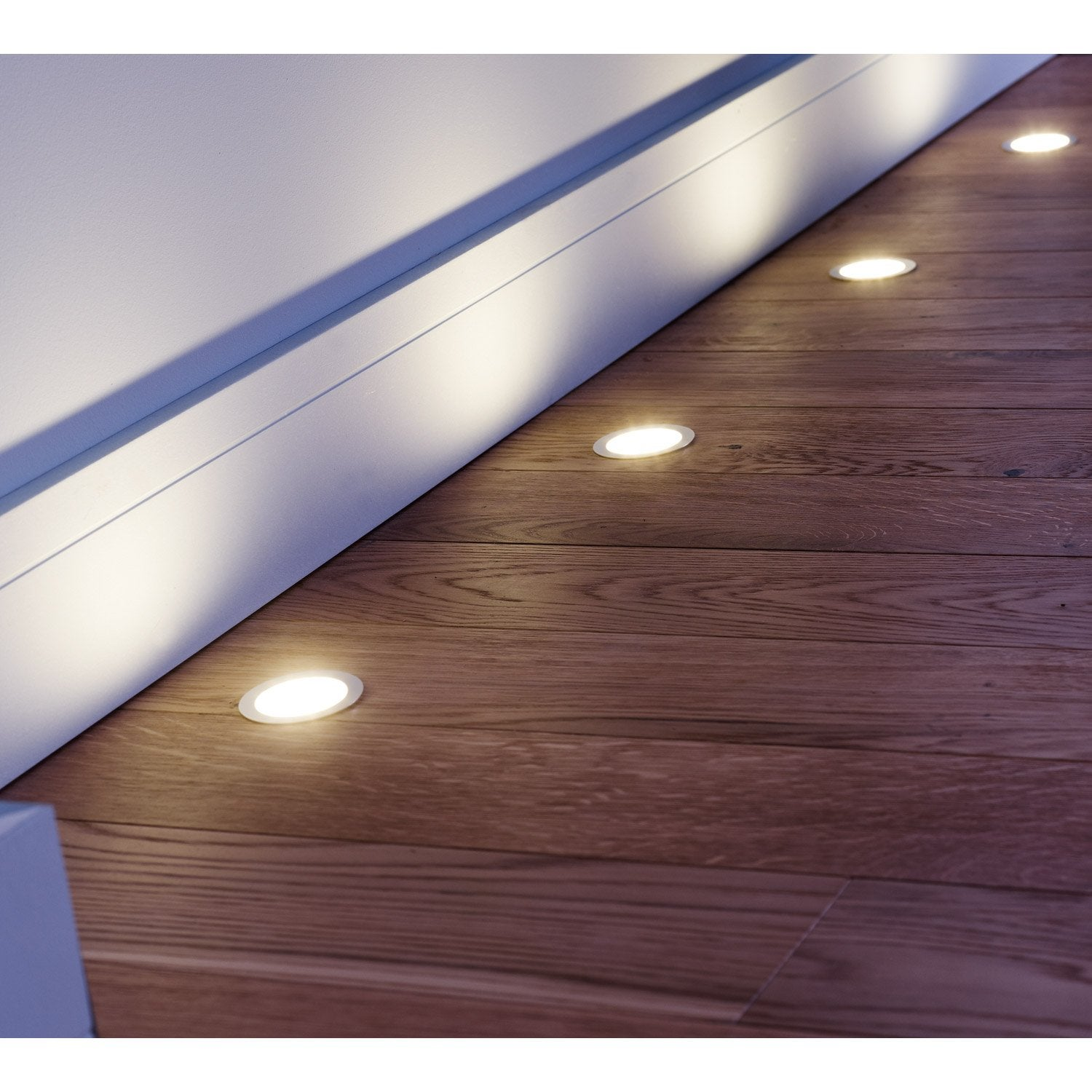 Kit 3 spots encastrer parquet fixe led led int gr e for Carrelage sur sol chauffant