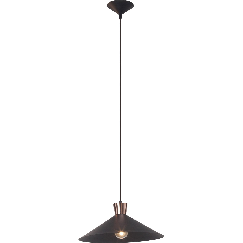 suspension e27 design mayfair m tal noir et cuivre 1 x 60 w brilliant leroy merlin. Black Bedroom Furniture Sets. Home Design Ideas