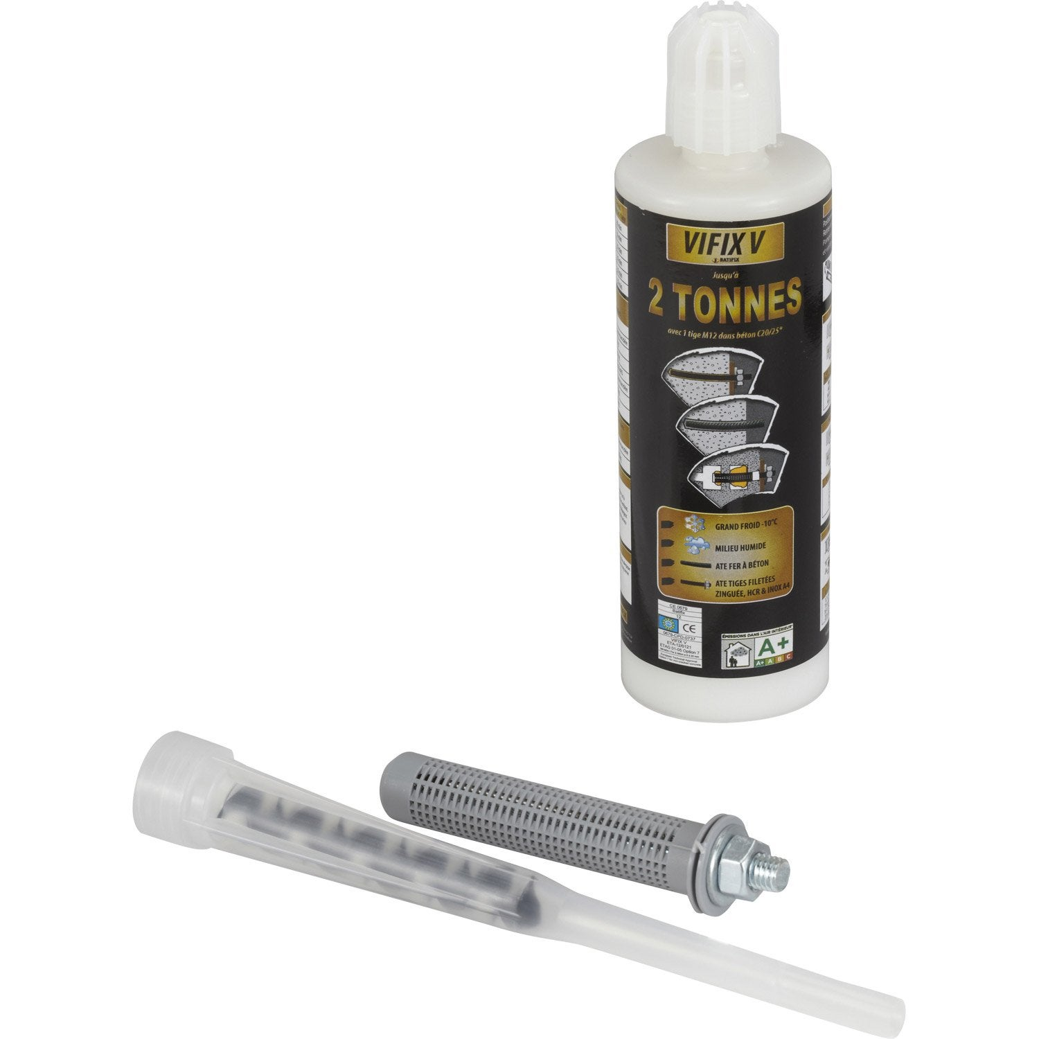 Kit de scellement chimique vifix v batifix leroy merlin - Kit oscilobatiente leroy merlin ...