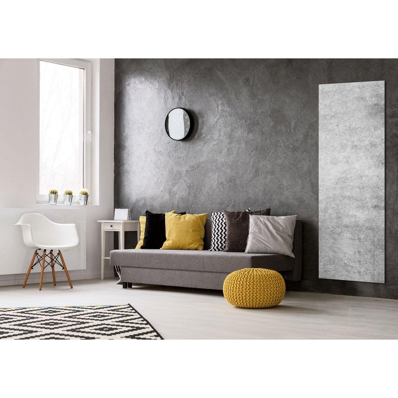radiateur lectrique rayonnement decowatt b ton glac 1100 w leroy merlin. Black Bedroom Furniture Sets. Home Design Ideas